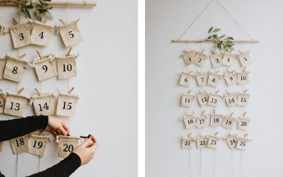 DIY: Calendrier de l'avent durable