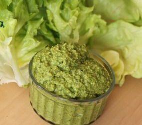 Recette: Pesto de salades vertes